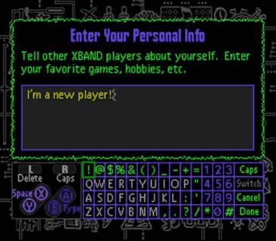 Screenshot of XBAND service