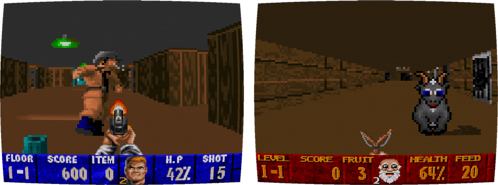 Comparison of Wolfenstein 3–D with Super 3D Noah's Ark