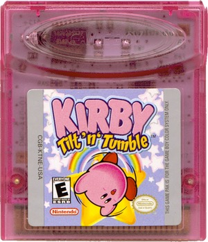 Kirby Tilt 'n' Tumble cartridge