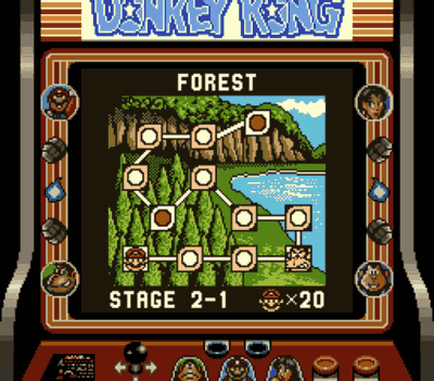 Donkey Kong '94 on the Super Game Boy